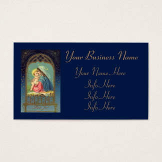 Nativity Mary Holding The Baby Jesus Business Card