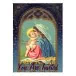 Nativity Mary Holding The baby Jesus Custom Announcements