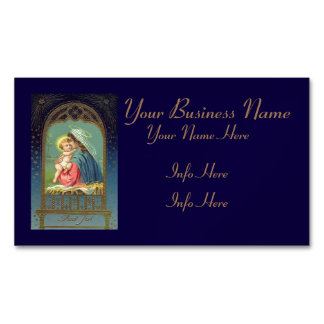 Nativity Mary Holding The Baby Jesus Magnetic Business Card