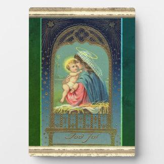 Nativity Mary Holding The Baby Jesus Plaque