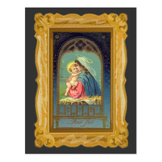Nativity Mary Holding The Baby Jesus Postcard