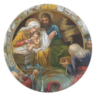 Nativity Melamine Plate