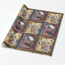 NATIVITY MONOGRAM PARCHMENT WRAPPING PAPER
