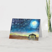 Nativity Night Sky Holiday Card