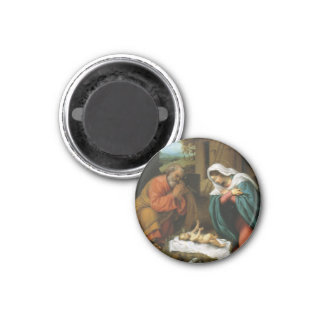 Nativity of Christ 1 Inch Round Magnet