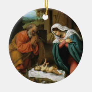 Nativity of Christ Ceramic Ornament