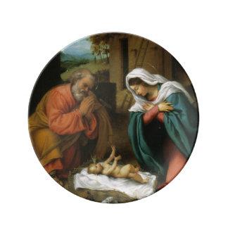 Nativity of Christ Porcelain Plates