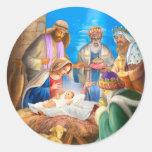 Nativity of Jesus x-mas image for christmas cards Sticker