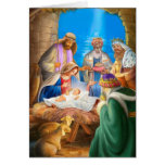 Nativity of Jesus x-mas image for christmas cards Kaarten