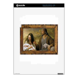 NATIVITY OF JESUSCHRIST  WOOD FRAME 10 CUSTOMIZABL SKIN FOR THE iPad 2