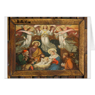 NATIVITY OF JESUSCHRIST  WOOD FRAME 20 CUSTOMIZABL GREETING CARDS