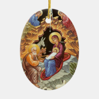 Nativity of Our Lord and Savior Jesus Christ Ceramic Ornament