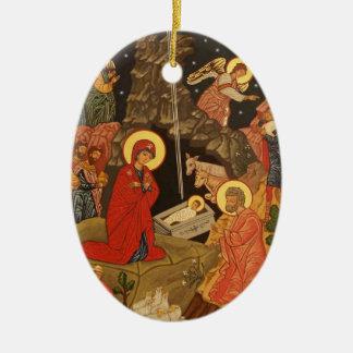Nativity of Our Lord and Savior Jesus Christ Ceramic Ornament