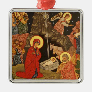 Nativity of Our Lord and Savior Jesus Christ Metal Ornament
