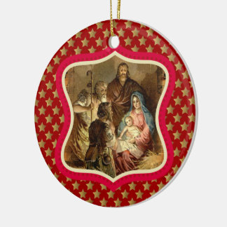 Nativity of our Lord Custom Ornament