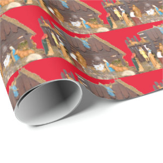 Nativity of the Birth of Jesus Wrapping Paper