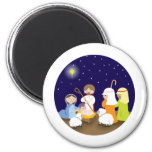 Nativity of the Lord 2 Inch Round Magnet