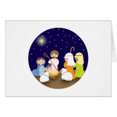 Nativity of the Lord Card at Zazzle
