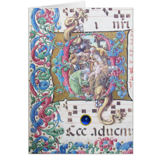 NATIVITY Old Irish Christmas Blessing Parchment Greeting Card