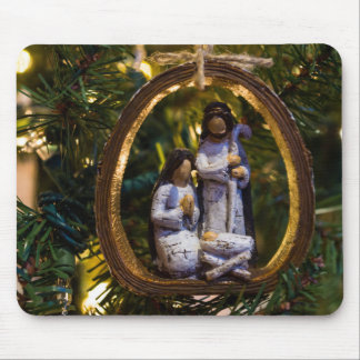 Nativity Ornament Mouse Pad