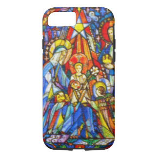 Nativity Painted Stained Glass Style iPhone 7 Case