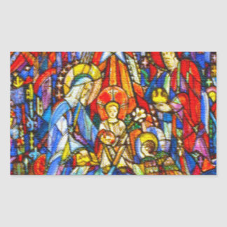 Nativity Painted Stained Glass Style Stickers