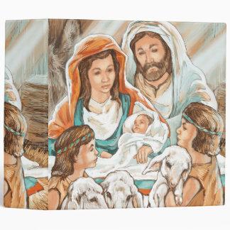 Nativity Painting with Little Shepherd Boys Binders
