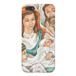 Nativity Painting with Little Shepherd Boys Covers For iPhone 5