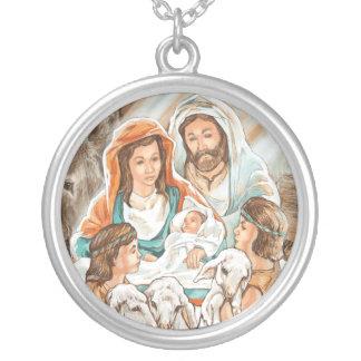 Nativity Painting with Little Shepherd Boys Pendant