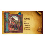 NATIVITY PARCHMENT  Blue Sapphire Monogram Double-Sided Standard Business Cards (Pack Of 100)