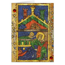 NATIVITY PARCHMENT WITH IRISH CHRISTMAS BLESSING CARD