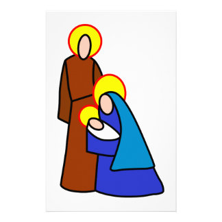 Nativity People Stationery