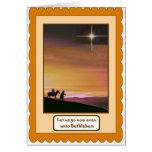 Nativity, religious Christmas card