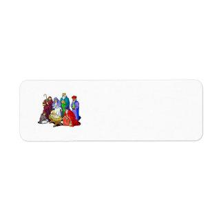 nativity return address label