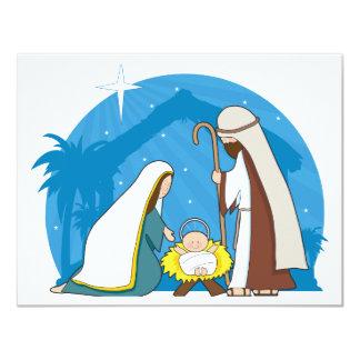 Nativity Scene 4.25x5.5 Paper Invitation Card