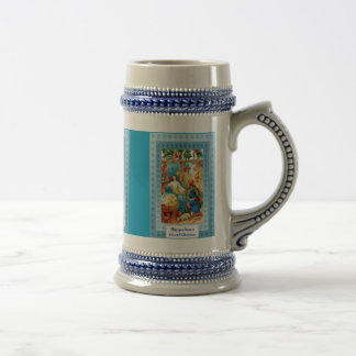 Nativity scene beer stein