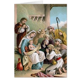 Nativity Scene Blank Christmas Card