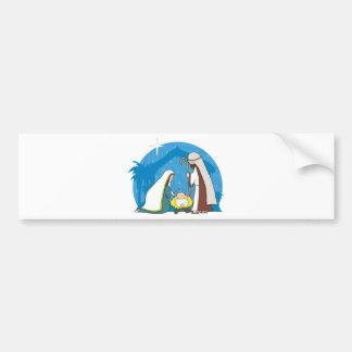 Nativity Scene Bumper Sticker