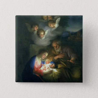 Nativity Scene Button
