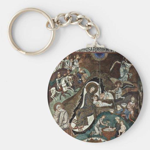 Nativity Scene By Meister Der Palastkapelle In Pal Basic Round Button Keychain