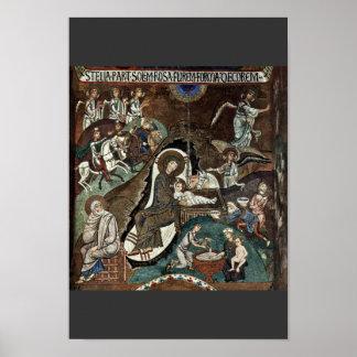 Nativity Scene By Meister Der Palastkapelle In Pal Poster