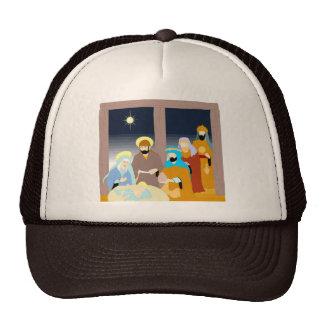 Nativity scene Christian artwork Hat