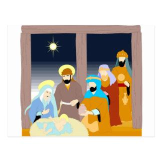 Nativity scene Christian artwork Postcards