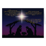 Nativity Scene Christmas Card Greeting Card