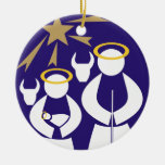 Nativity Scene Christmas Ceramic Ornament