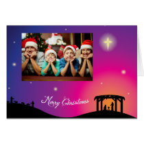 Nativity Scene Christmas Greeting Card
