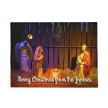 Nativity Scene Christmas Holiday Display Doormat