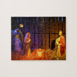 Nativity Scene Christmas Holiday Display Jigsaw Puzzle