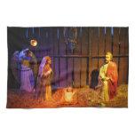 Nativity Scene Christmas Holiday Display Kitchen Towel