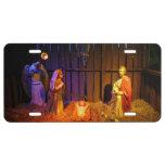 Nativity Scene Christmas Holiday Display License Plate